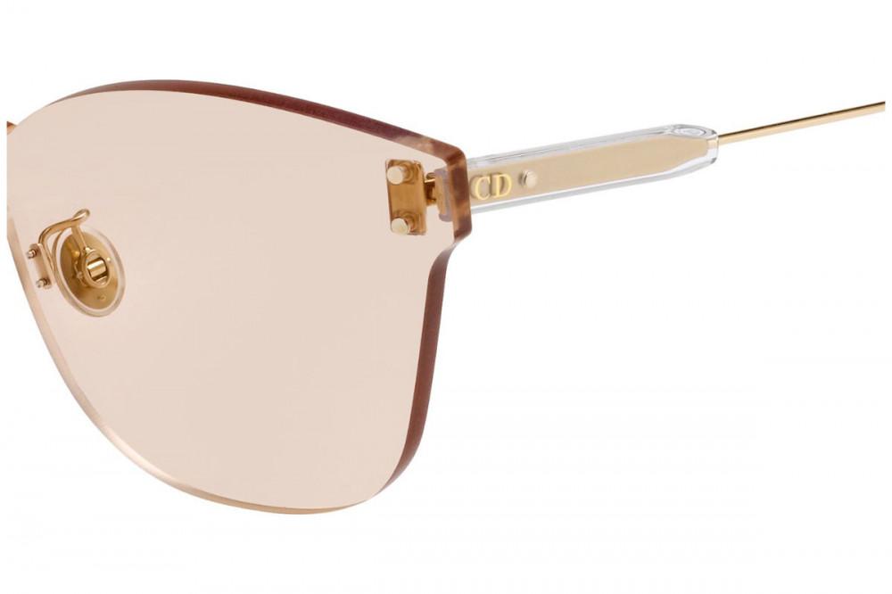 احسن نظارات شمسية نسائية ديور - شكل كات أي - لون وردي - زكي