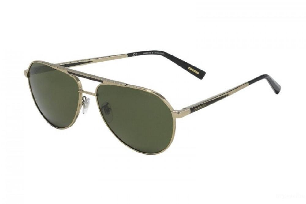 نظارة شوبارد شمسية للرجال - شكل افياتور - لون فضي - زكي للبصريات