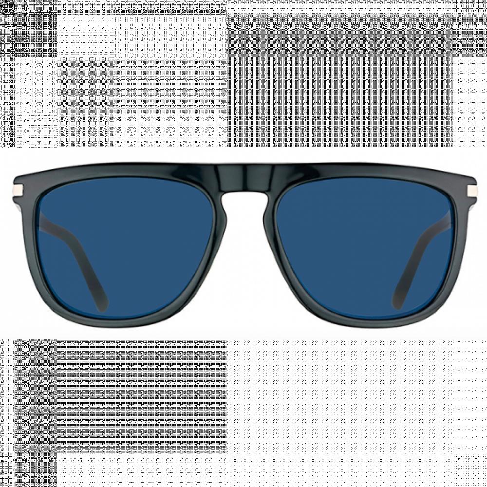 نظارات كالفن كلاين الشمسيه للرجال - شكل مستطيل - لون أسود - زكي