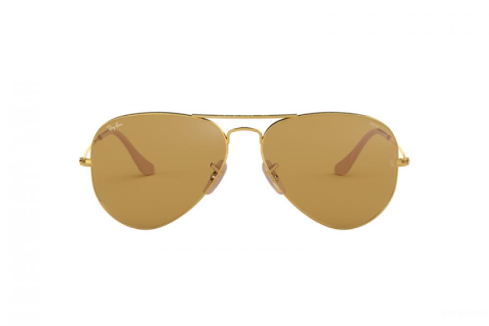 سعر نظارة ريبان شمسية رجالية ونسائيه - افياتور - لون ذهبي - زكي للبصري