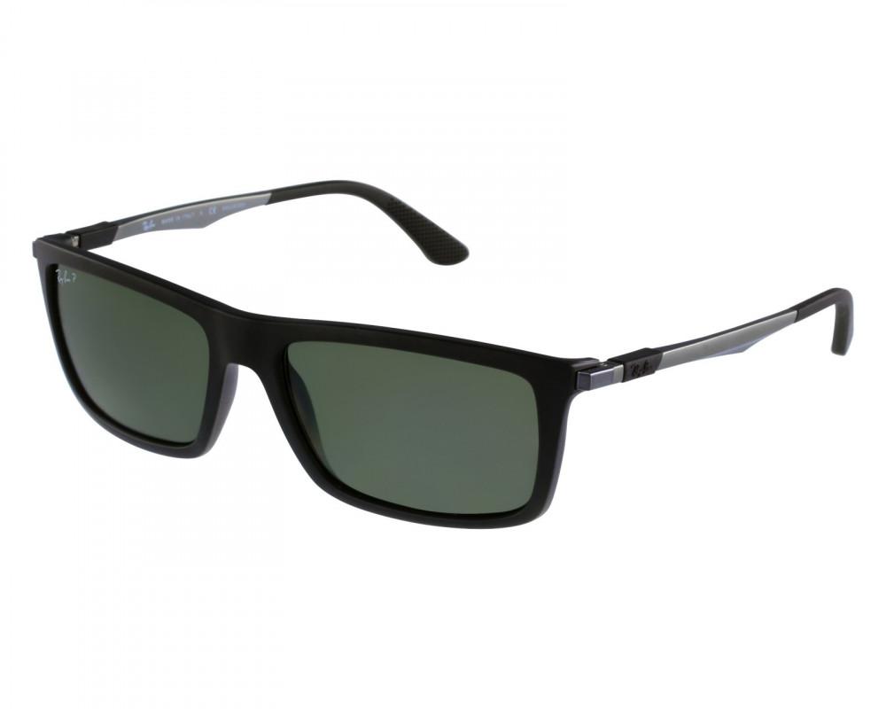 نظارة ريبان شمسية للرجال - لون اسود - مستطيلة الشكل - زكي للبصريات