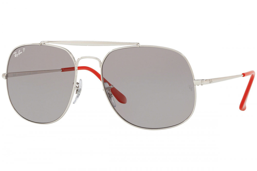 نظارة ريبان شمسية للرجال - لون فضي - مربعة الشكل - زكي للبصريات