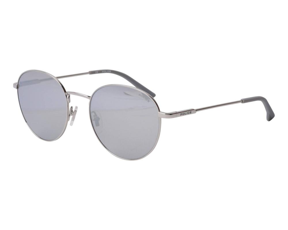 نظارة بوليس شمسية للرجال والنساء - دائرية - فضية - زكي للبصريات