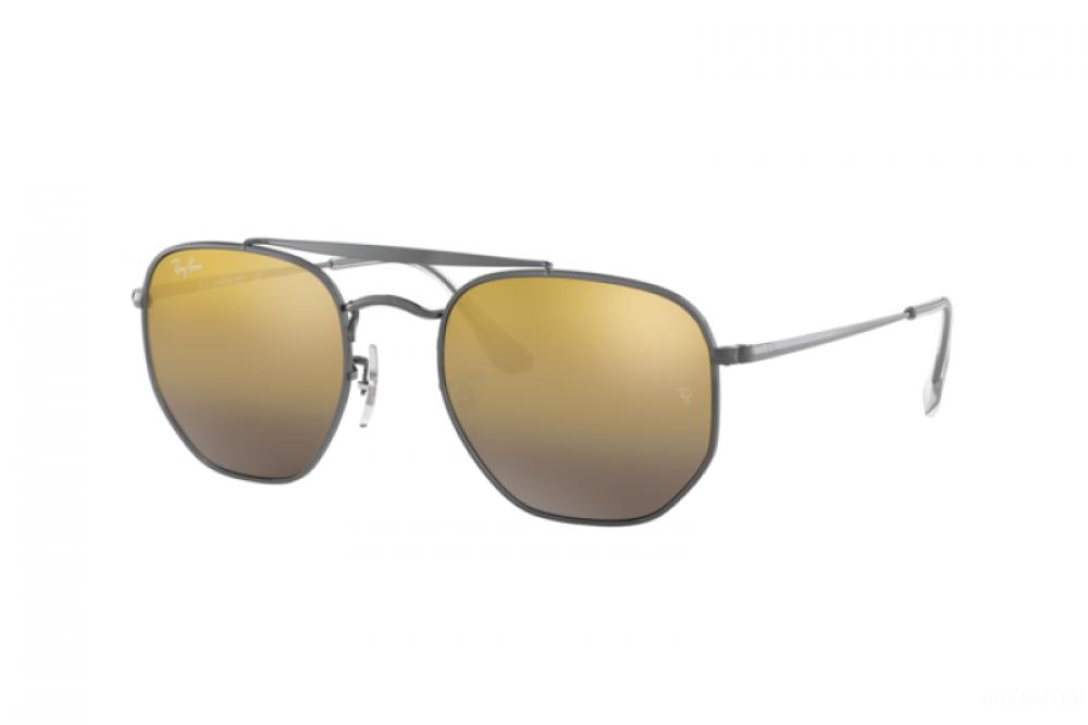 نظارة ريبان شمسية للرجال والنساء - مربعة الشكل ولون فضي - زكي للبصريات