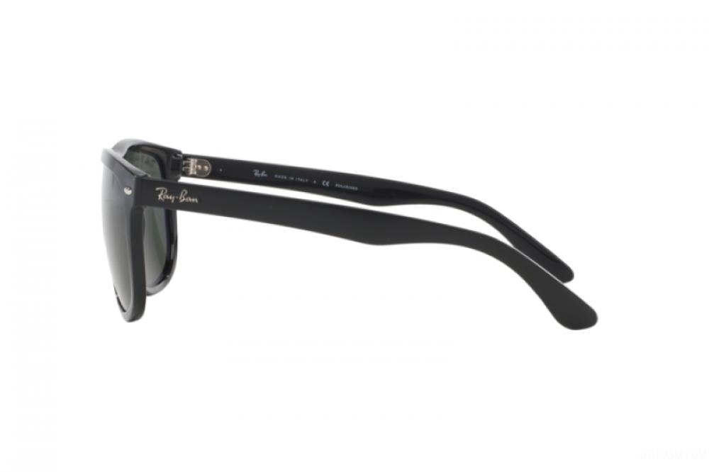 احسن نظارة ريبان شمسية للرجال -  أسود - شكل مربعي - زكي للبصريات