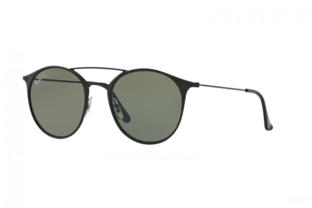 نظارة ريبان شمسية للرجال - لون اسود - دائرية الشكل - زكي للبصريات