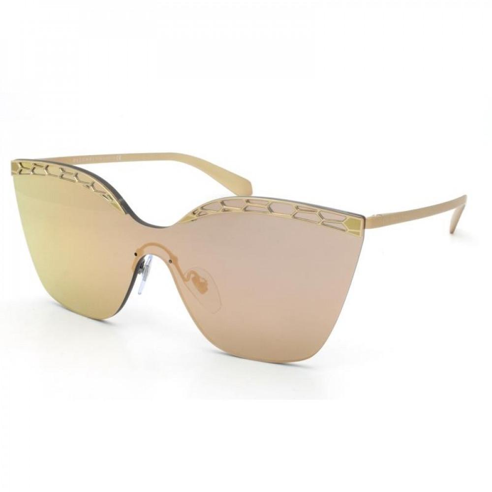 نظارة بولغاري نسائي شمسية - شكل مربع - لونها وردي - زكي