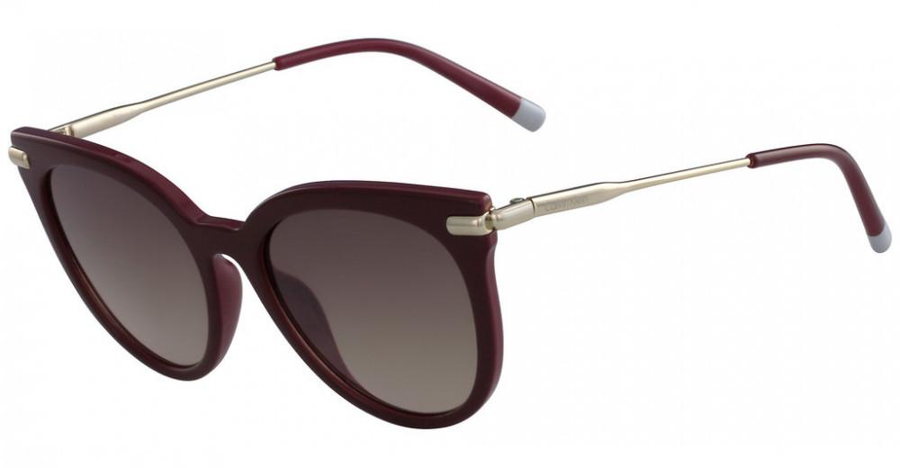 نظارة شمسية كالفن كلاين للنساء - شكل دائري - لون بني - زكي