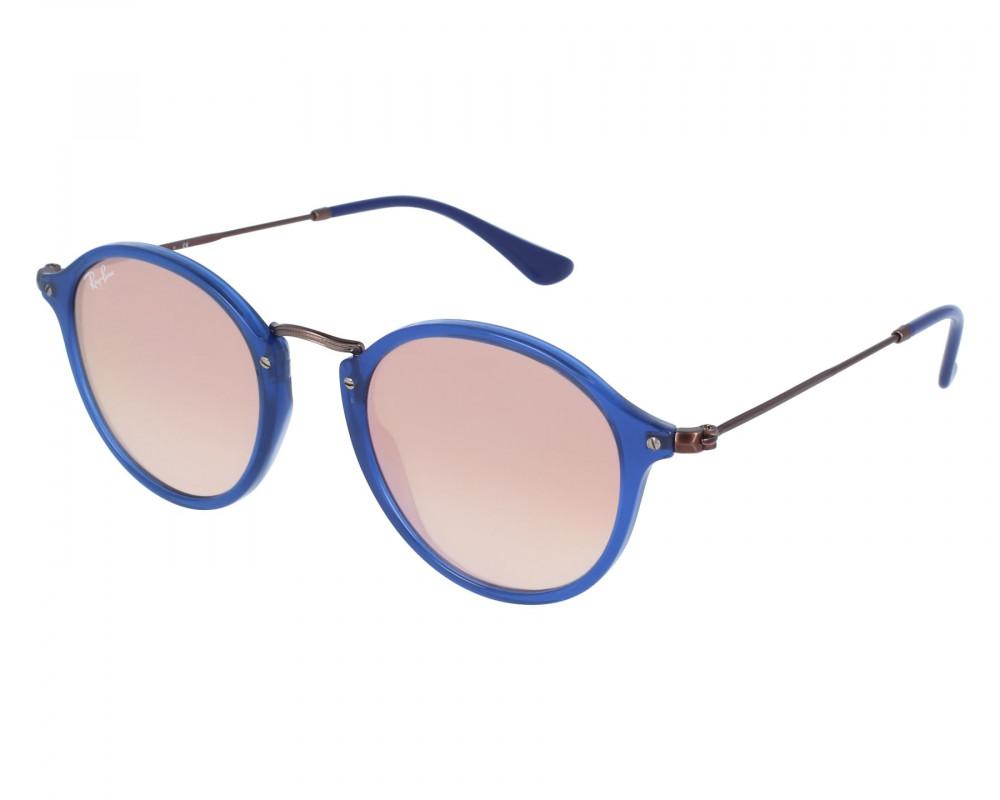 نظارة ريبان شمسية للرجال - شكل دائري - لون أزرق - زكي للبصريات