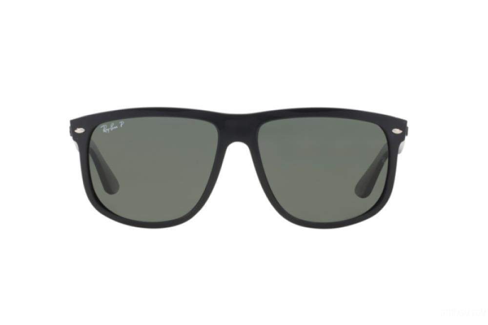 افضل نظارة ريبان شمسية للرجال -  أسود - شكل مربعي - زكي للبصريات