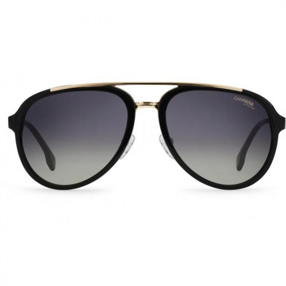 افضل نظارة كاريرا شمس رجالي - شكل افياتور - لون أسود - زكي للبصريات