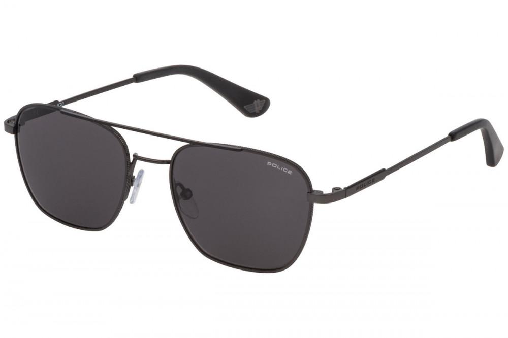 نظارة بوليس شمسية رجالية - شكل واي فيرر - لون رمادي - زكي للبصريات