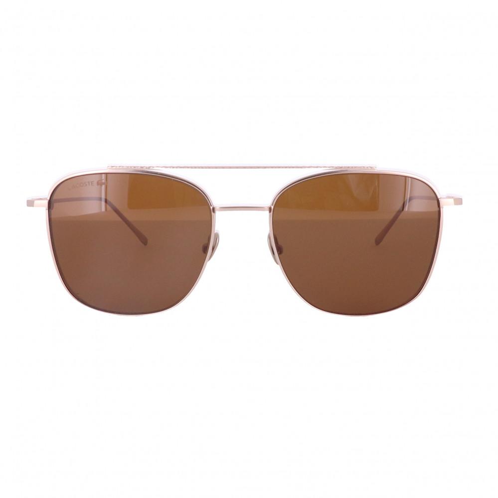 افضل نظارة لاكوست شمسية للجنسين - شكل افياتور - لون ذهبي - زكي للبصريا