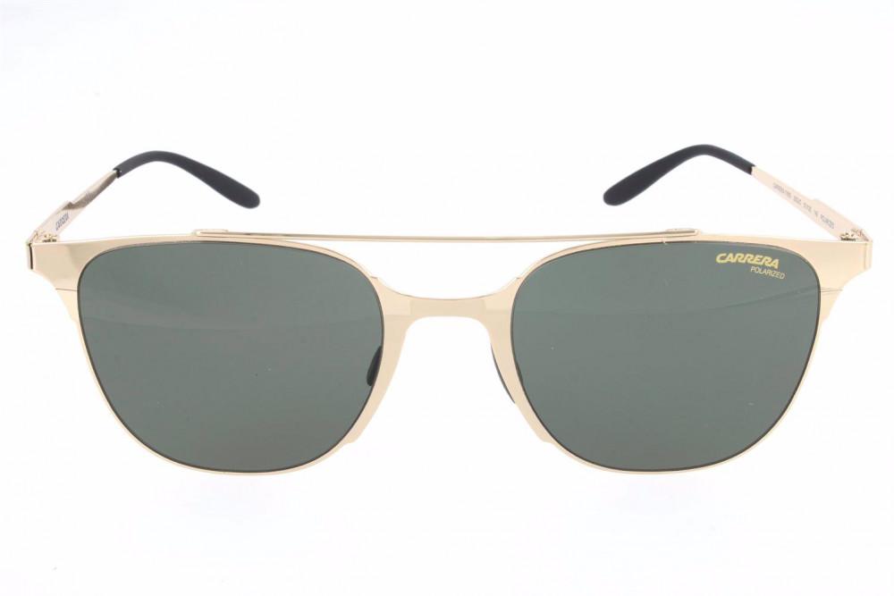 سعر نظارة كاريرا شمسية للرجال - شكلها دائري - لون ذهبي - زكي للبصريات