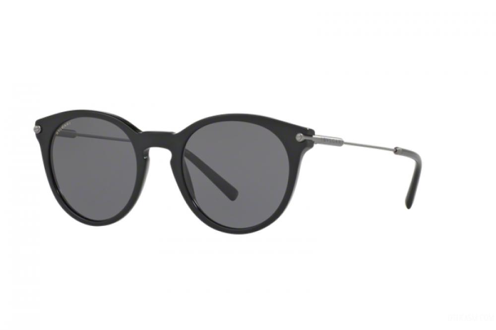 نظارة بولغاري شمسية للجنسين - شكل دائري - لون أسود - زكي للبصريات