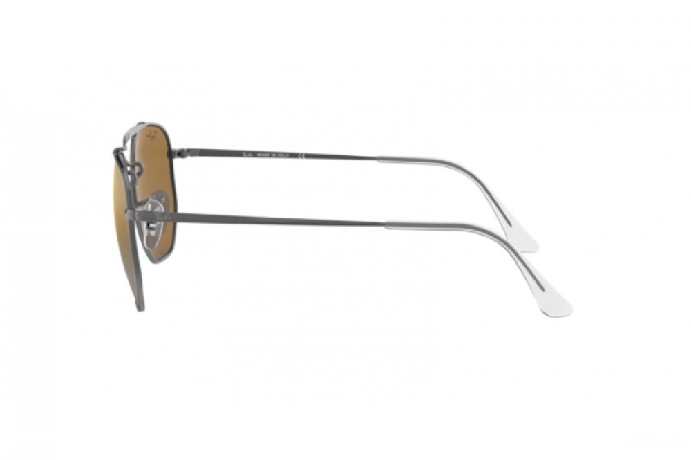 احسن نظارة ريبان شمسية للرجال والنساء - مربعة الشكل ولون فضي - زكي للب