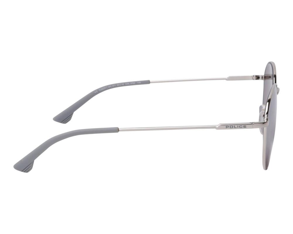 احسن نظارة بوليس شمسية للرجال والنساء - دائرية - فضية - زكي للبصريات