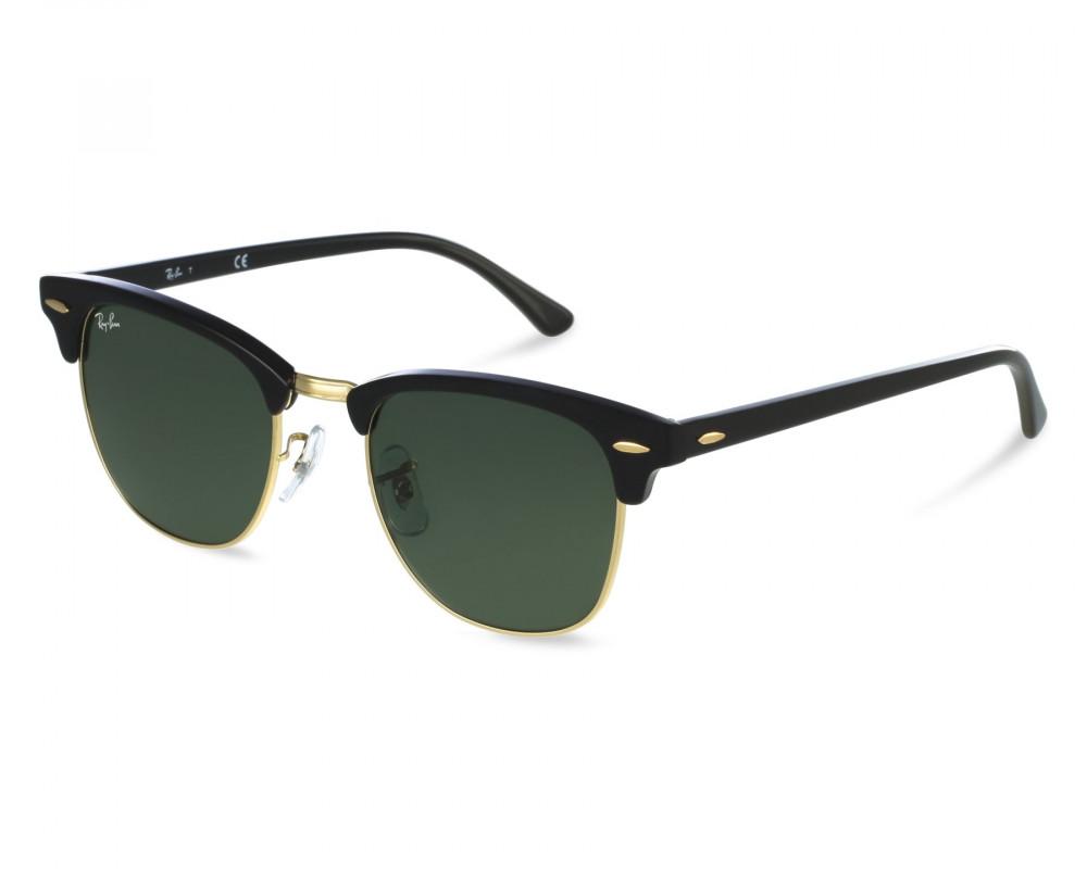 نظارة ريبان شمسية للرجال - شكل واي فيرر - لون اسود - زكي للبصريات