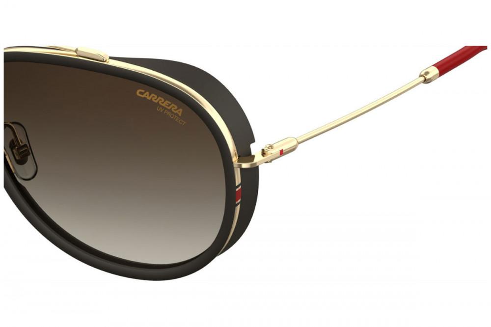 نظارة كاريرا شمسية للرجال - شكلها افياتور - لون أسود - زكي للبصريات