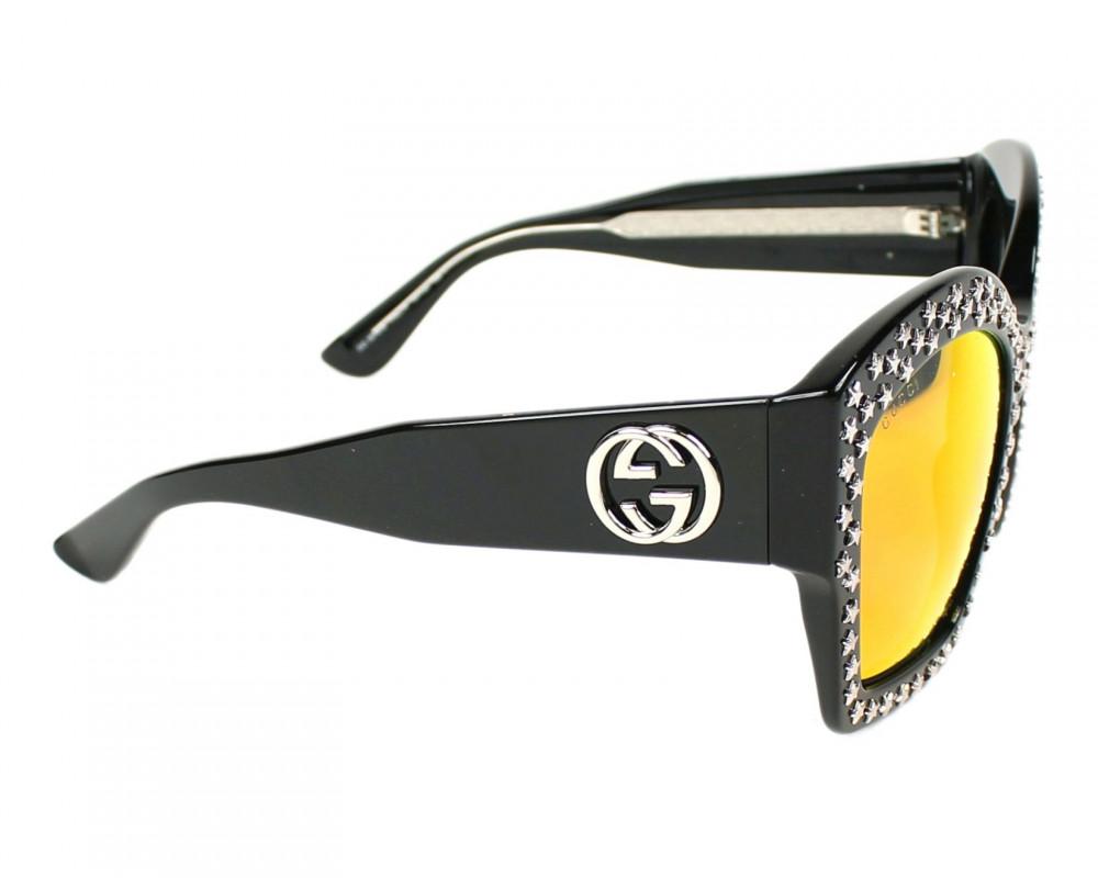 احسن نظارة قوتشي نسائي شمسيه - شكل مربع - لون اسود - زكي للبصريات