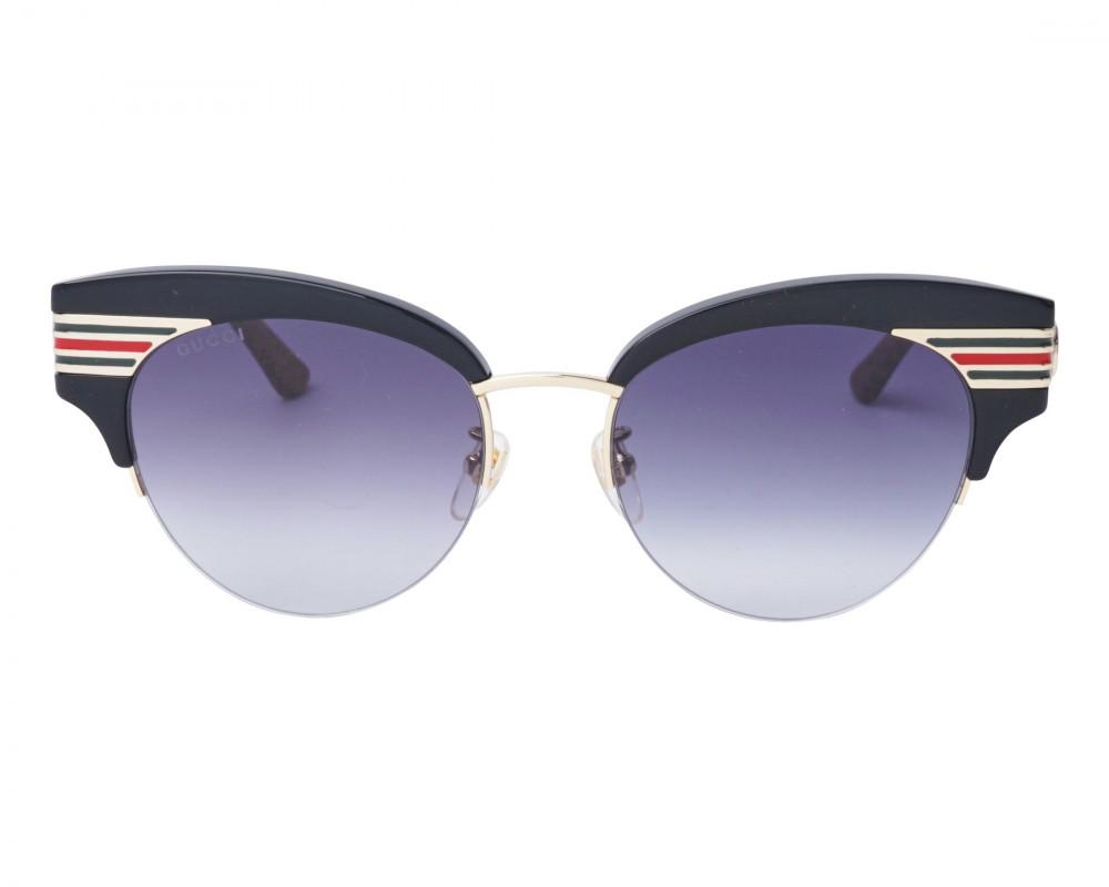 شراء نظارة قوتشي نسائي شمسية - شكل كات اي - لونها اسود - زكي