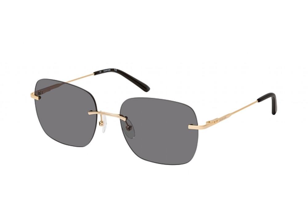 نظارة شمسية كالفن كلاين للنساء - شكل مربع - لون اسود - زكي