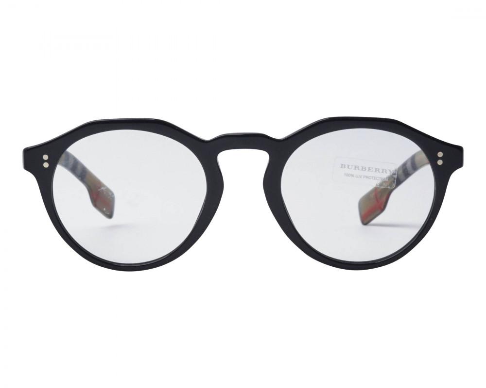 شراء نظارة بربري شمسية للجنسين - شكل دائري - لون أسود - زكي للبصريات