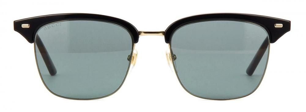 نظارة قوتشي شمسية للجنسين - شكل دائري - باللون الأسود - زكي للبصريات