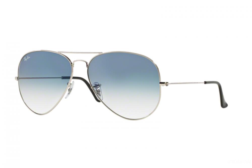 نظارة ريبان شمسية رجالية - شكل افياتور - لون فضي - زكي للبصريات