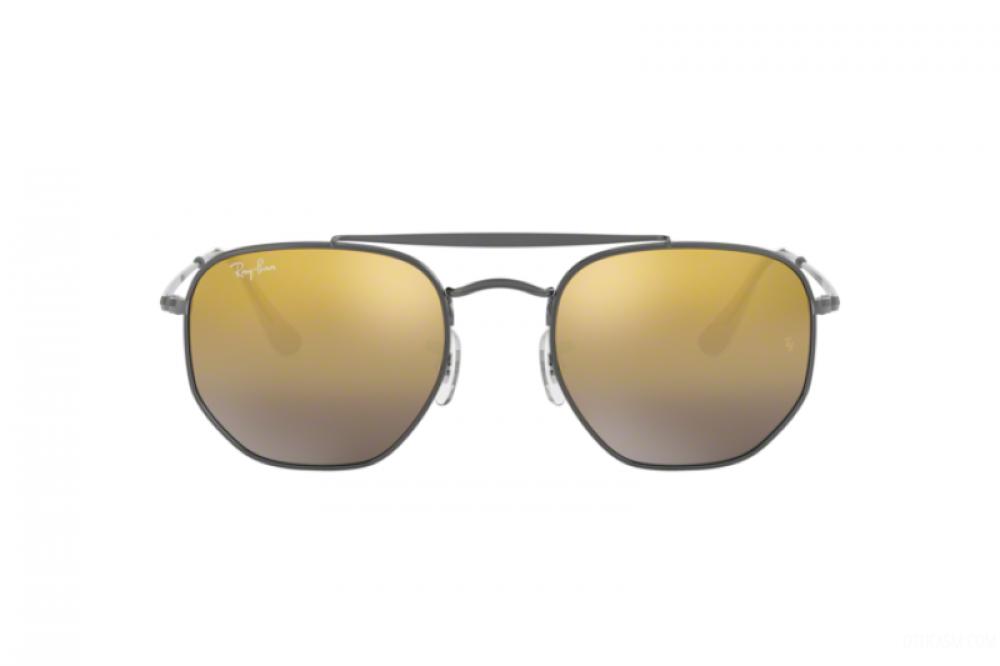 افضل نظارة ريبان شمسية للرجال والنساء - مربعة الشكل ولون فضي - زكي للب