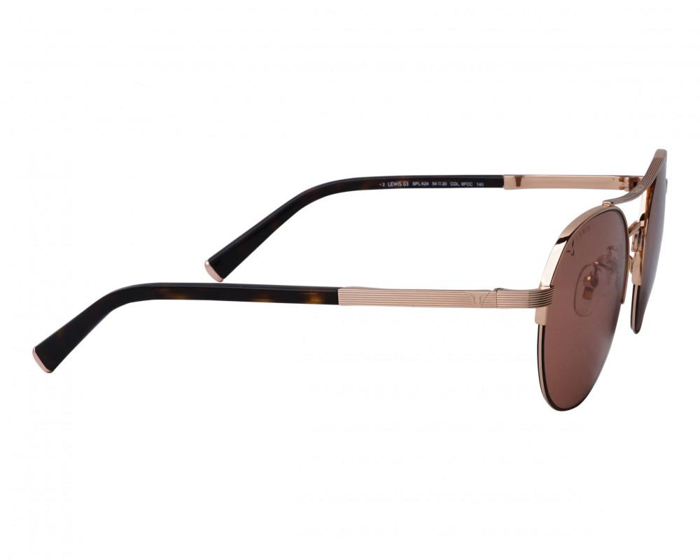 احسن نظارة بوليس شمسية للرجال - شكل دائري - لون نحاسي - زكي للبصريات