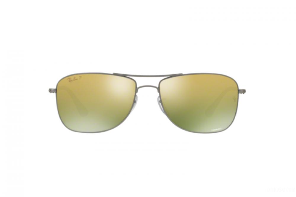 افضل نظارة ريبان شمسية للرجال والنساء - مستطيلة الشكل - فضية اللون - ز