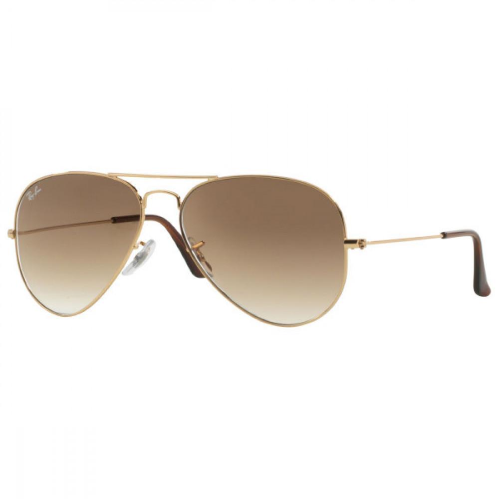 نظارة ريبان شمسية للجنسين - شكل افياتور - لون ذهبي - زكي للبصريات