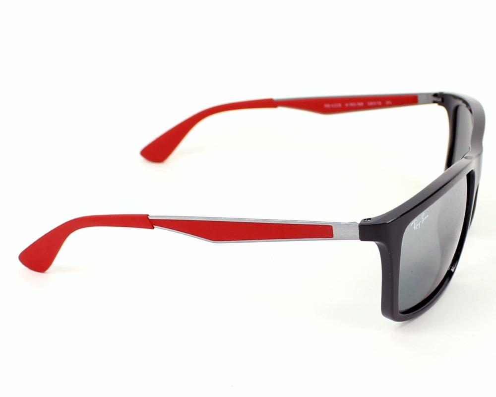 احسن نظارة ريبان شمسية للرجال -  أسود - شكل مستطيل - زكي للبصريات