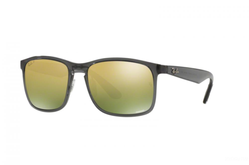 نظارة ريبان شمسية للرجال مربعة -  أسود - زكي للبصريات