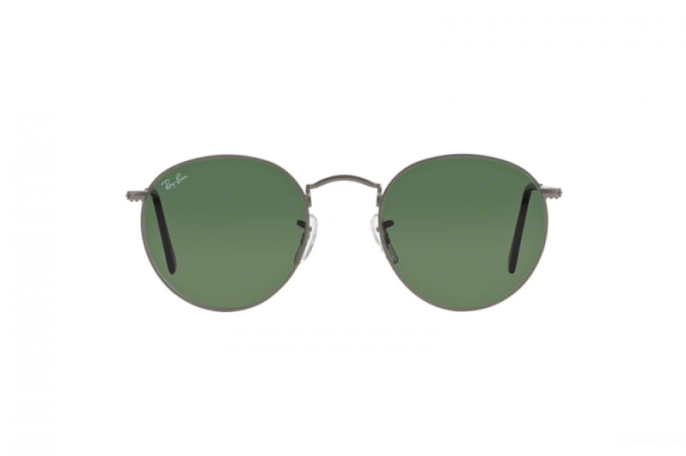 افضل نظارة ريبان شمسية للرجال والنساء - شكل دائري - لون فضي - زكي