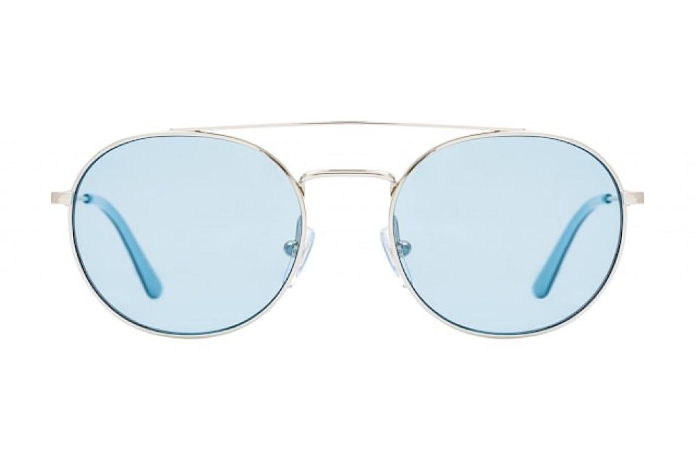 سعر نظارات كالفن كلاين الشمسية للجنسين - شكل دائري - لون فضي - زكي