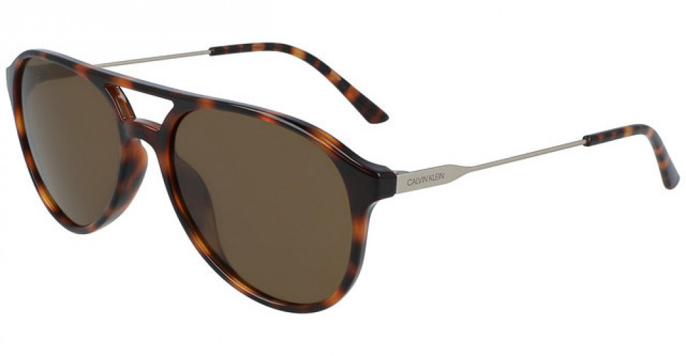 نظارات كالفن كلاين الشمسية للرجال - شكل افياتور - لون تايقر - زكي