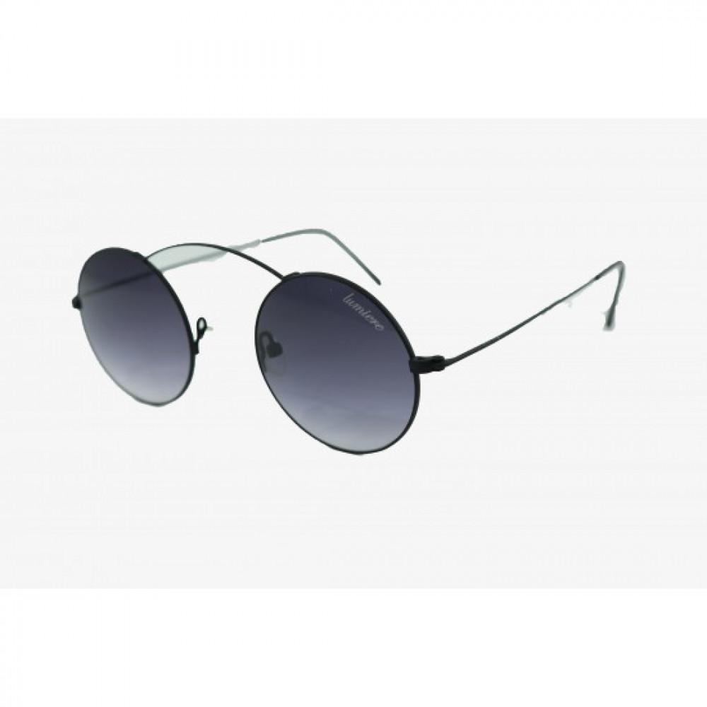 نظارة لومير شمسية للجنسين - دائرية - اسود - زكي