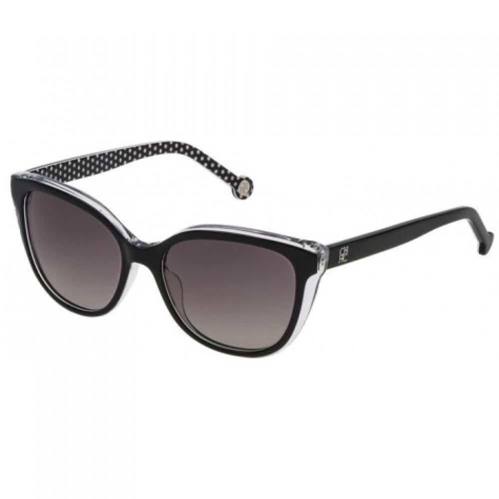 نظارات كارولينا شمسية للنساء - شكل مستطيل - لون أسود - زكي