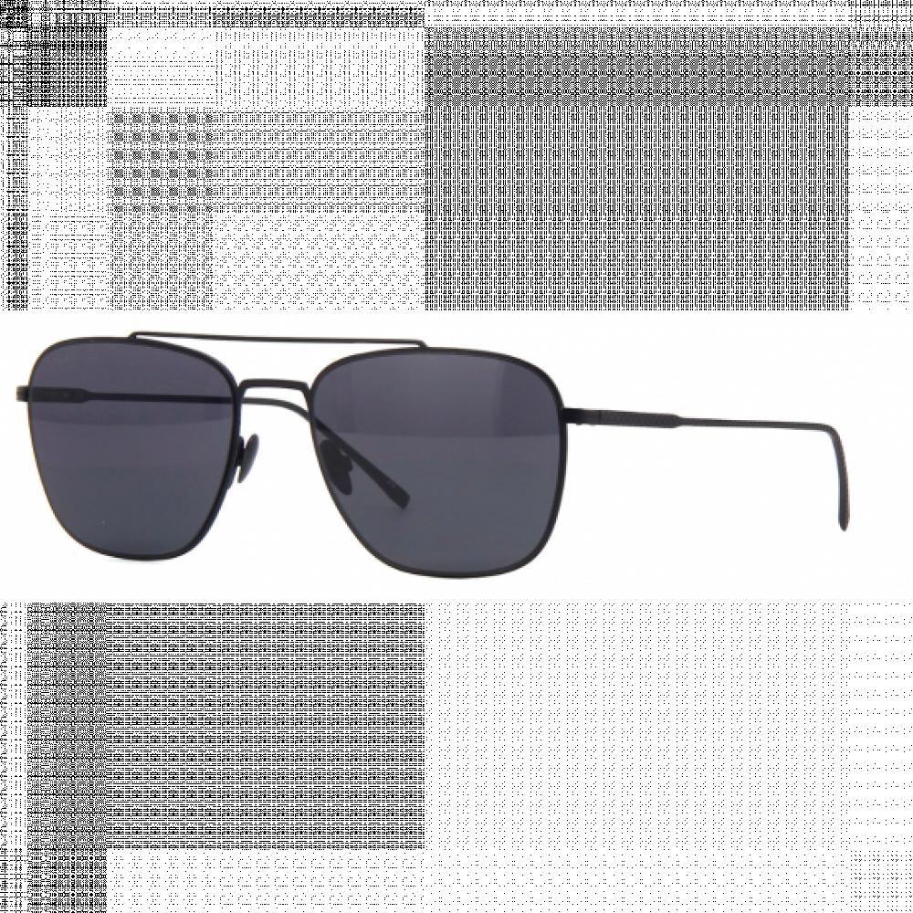 نظارة لاكوست شمسية للرجال - شكل أفياتور - لون أسود - زكي للبصريات