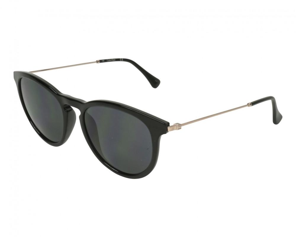نظارات كالفن كلاين الشمسية للجنسين - دائرية - سوداء - زكي للبصريات