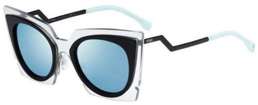 نظارة فندي نسائي شمسية - شكل غير منتظم - لونها أسود - زكي