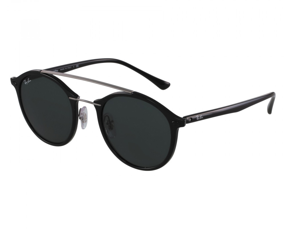نظارة ريبان شمسية للرجال - باللون أسود - زكي للبصريات