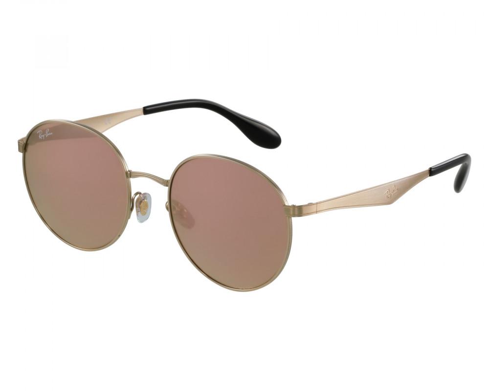 نظارة ريبان شمسية للرجال والنساء - ذهبية اللون - دائرية - زكي