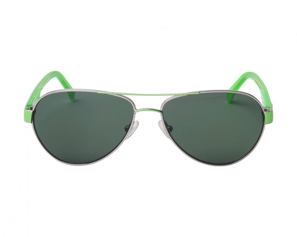 افضل نظارة لاكوست شمسية للجنسين - شكل افياتور - باللون فضي - زكي للبصر