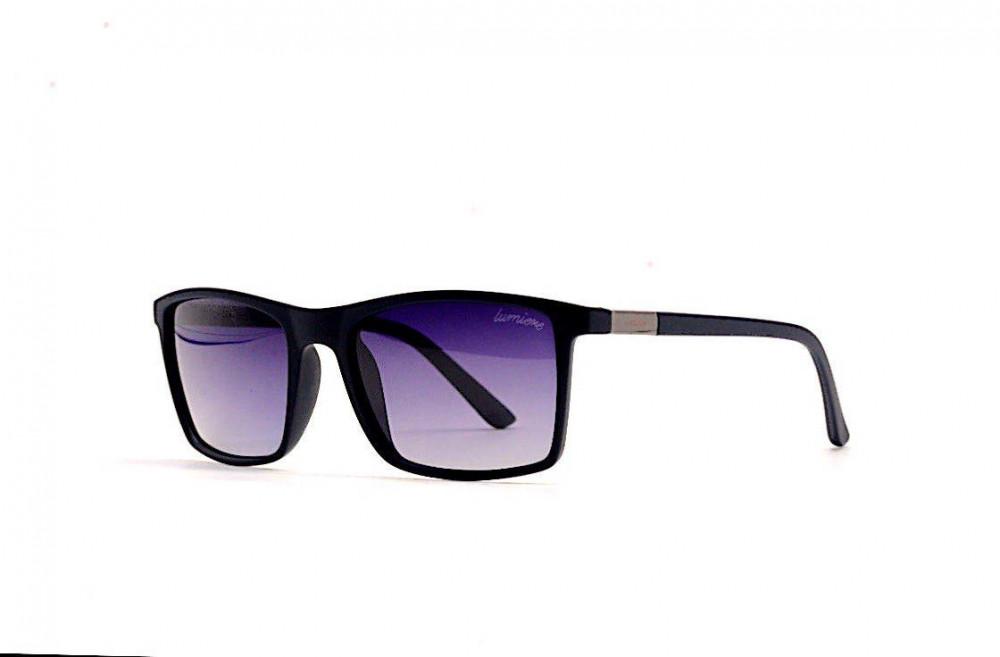 نظارة لومير شمسية لكلا الجنسين - شكل مستطيل - لون كحلي - زكي