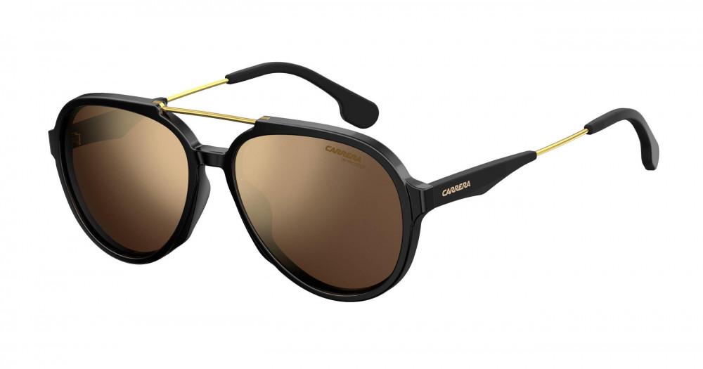 نظارات ماركة carrera شمسية للرجال - افياتور - اسود - زكي