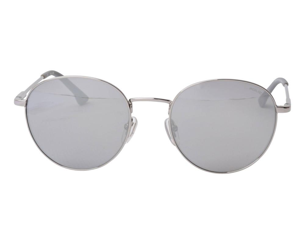افضل نظارة بوليس شمسية للرجال والنساء - دائرية - فضية - زكي للبصريات