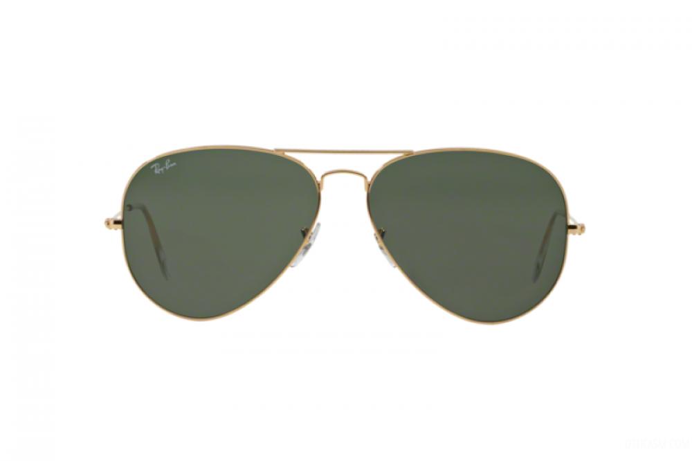 افضل نظارة ريبان شمسيه للرجال والنساء - شكل افياتور - لون ذهبي - زكي